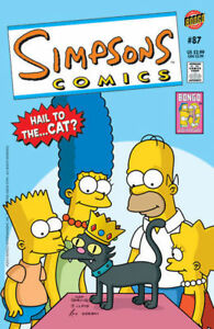 ~~~~/> Simpsons Comics #87 Snowball Kitty Cat Cover
