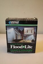 American Electrical Quartz Halogen Flood Lite 300 Watts New Old Stock DR300Q