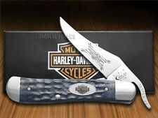 CASE XX Harley-Davidson Jigged Gray Bone Russlock Stainless Pocket Knives Knife