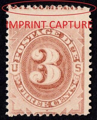 """Stamps Sale Overall Discount 50-70% Just Us Sc# J3 *mint Og Nh* { """"scarce Imprint Capture } Error Postage Due Cv$ 280.00"""