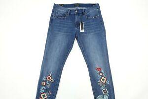 NWT MSRP $108 Buffalo David Bitton Floral Faith Mid Rise Skinny Jeans 28