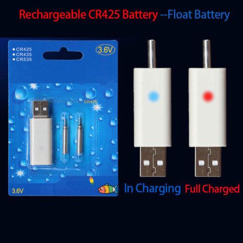Schwimmer Batterie Fischköder Wiederaufladbar CR425 Fischen Treiben Streichholz