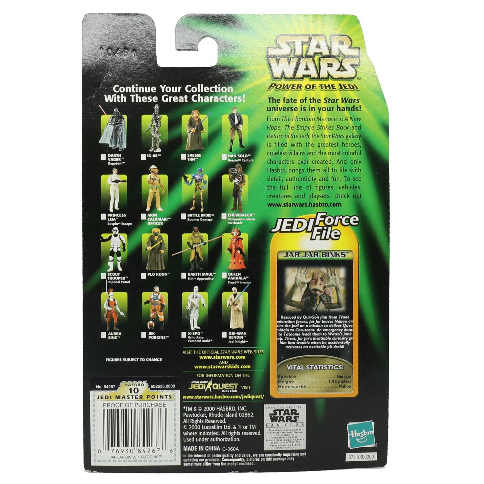 2000 Star Hasbro Star 2000 Wars Power of the Jedi Jar Jar Binks eb176c