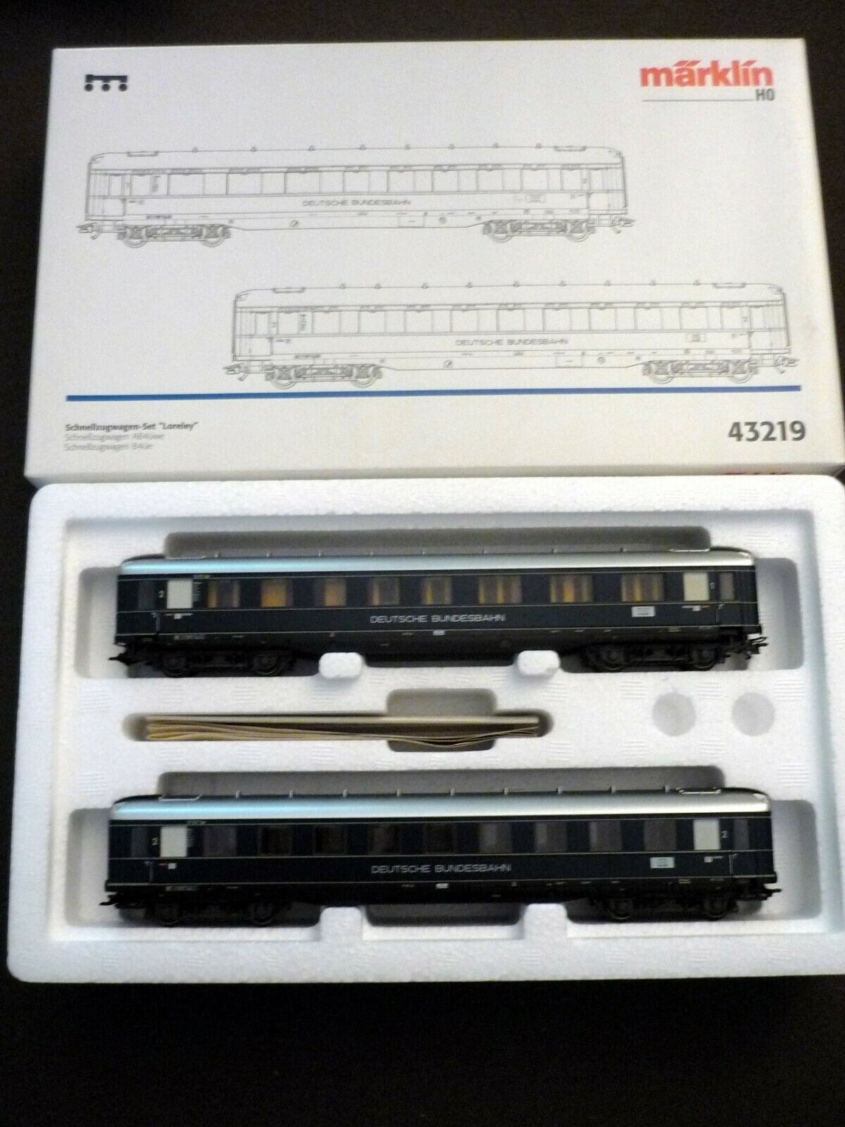 marklin H0 43219  SET Express Train  Loreley of DB,  Never used