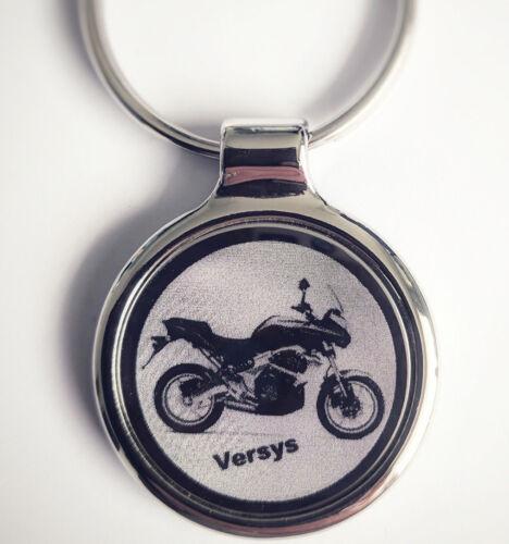 eigener Textgravur Kawasaki Versys Schlüsselanhänger Versys als Fotogravur inkl