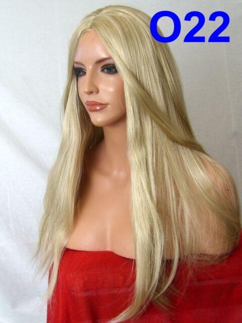 Blonde Wig Fashion natural Wig Long Straight Ash Blonde Women Ladies Wig O22