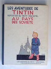 Album Tintin au pays des Soviets Fac similé noir et Blanc de 1982 BON ETAT