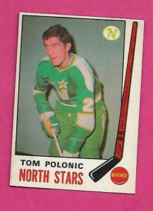 1969-70-OPC-199-NORTH-STARS-TOM-POLONIC-ROOKIE-EX-MT-CARD-INV-C4074