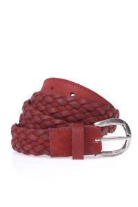 comprare on line 03fff c3d6d Dettagli su Cintura Daniele Alessandrini Belt Pelle MADE IN ITALY Uomo  Rosso NL56653600 9