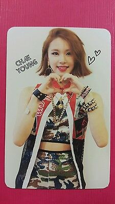 TWICE CHAEYOUNG Official Photocard Red Adult Ver  1st Album The