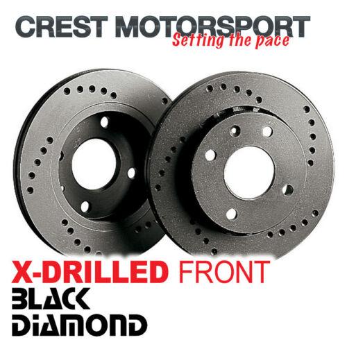 MAZDA RX8 2.6 323mm Disc BLACK DIAMOND X-Drilled Front Brake Discs 03