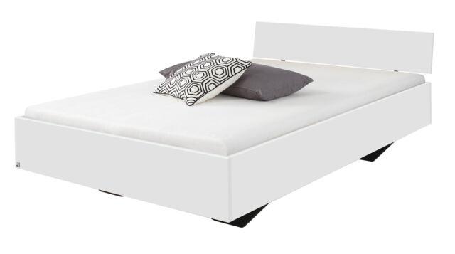 Futonbett 120 x 200 cm Bettrahmen Einzelbett Bettgestell Hochglanz Weiß 41321