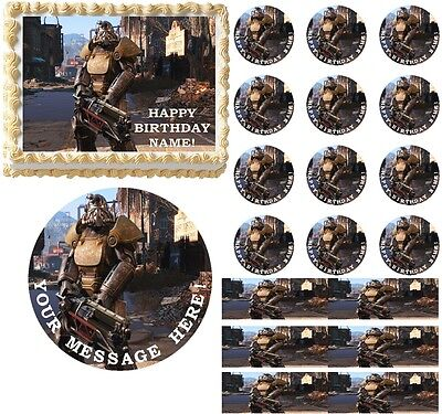 Original Fallout 4 Gaming Edible Cake Topper Image Frosting Sheet Cake Decoration To Rank First Among Similar Products Other Baking Accessories