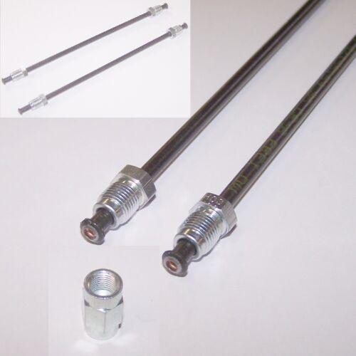 Bremsleitung gebördelt Bördel F mit Überwurfmutter Verbinder 2x 30cm universell