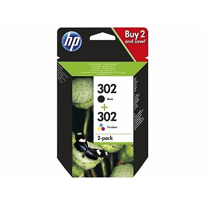 Genuine HP 302 Black & Colour Ink Cartridge Combo Pack X4D37AE For Envy 4527