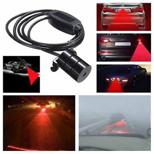 Car Red Laser Fog Rear Anti Collision Safety Taillight