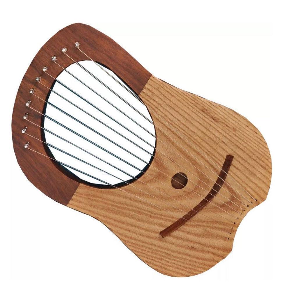 Cc Brandneu Lyra Mundharmonika Sheesham Holz 10 Metallsaiten Freie Gehäuse +