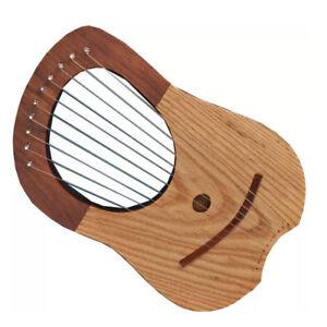 Diligent Cc Brand New Lyre Harpe Palissandre Bois 10 Métal Chaînes étui Gratuit + Clé-afficher Le Titre D'origine