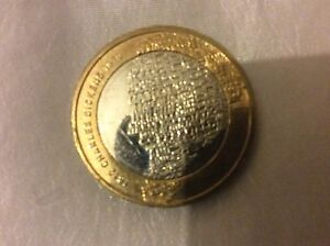 2-two-pound-coin-Charles-Dickens-collectable-Great-Condition