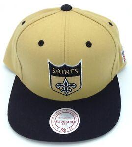 NFL New Orleans Saints Mitchell   Ness Structured Snap Back Hat Cap ... 8d7a2a6b4
