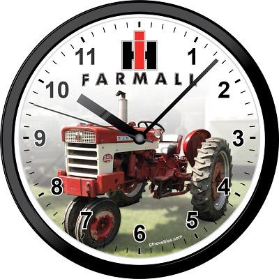 International Harvester IH logo image picture wall hanging clock clocks for home
