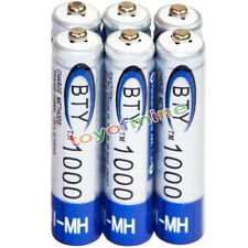 6x AAA battery batteries Bulk Nickel Hydride Rechargeable NI-MH 1000mAh 1.2V BTY