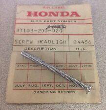 NOS OEM Honda CT90-Z Screw Headlight Beam Adjust Qty.1 # 33103-200-020 +