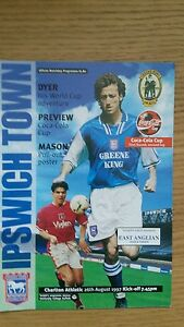 Ipswich Town v  Charlton Athletic  Coca Cola Cup  Season 1997  1998 - <span itemprop=availableAtOrFrom>Warrington, United Kingdom</span> - Ipswich Town v  Charlton Athletic  Coca Cola Cup  Season 1997  1998 - Warrington, United Kingdom