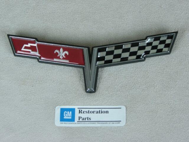 1980 Corvette C3 Front Nose Emblem Reproduction GM Licensed