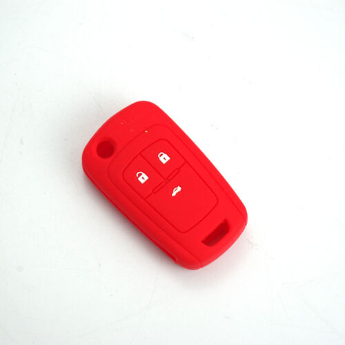 Key Case Cover Car Silicone Remote Shell Fob Shell For Chevrolet Cruze 3 Buttons