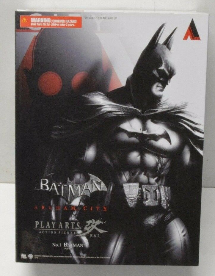 Play Arts Kai Batman Arkham City No. 1 Action Figure complete in box