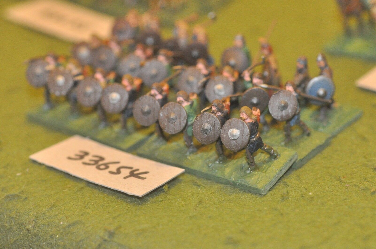 25mm dark ages   anglo-saxon - spearmen 24 figures - inf (33654)