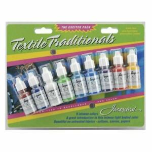 Jacquard-Pack-Textile-Traditionals-Perminant-Ink-Exciter-Pack-5oz-14ml-9-Pkg