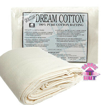 """Quilter/'s Dream Puff Queen 108/"""" x 93/"""" High Loft Fluffy Quilt Batting"""