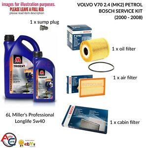 VOLVO-V70-2-4-S-MK2-00-08-BOSCH-SERVICE-KIT-PETROL-OIL-AIR-CABIN-6L-OIL
