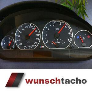 Tachoscheibe-fuer-Tacho-BMW-E46-Diesel-M3-Optik-ohne-Tachojustierung
