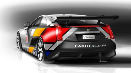 2011 CADILLAC CTS V RACE CAR ART POSTER PRINT STYLE B 20x36 9 MIL PAPER