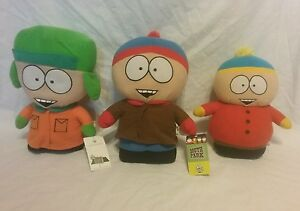 2008 comedy central south park plush lot, Kyle and stan with tags cartman w/o
