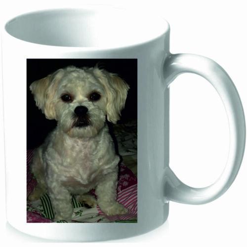 Tassen mit Druck Bild Hund Sublimation