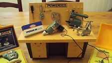 Ideal PowerMite Vintage Miniature toy working power tools and Workbench