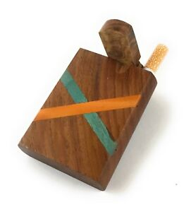 3-034-Wooden-Tobacco-Dugout-Set-with-Free-Two-one-hitters-2-034-Ceramic-and-Metal