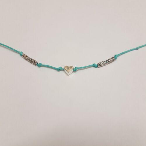 Boho hippy cord anklets ankle bracelets festival summer beach hearts tie on