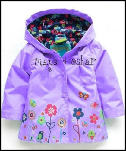 Baby Girl Pluie MAC Manteau Printemps été Veste à Capuche Coupe-vent Fleur 18M-5Y
