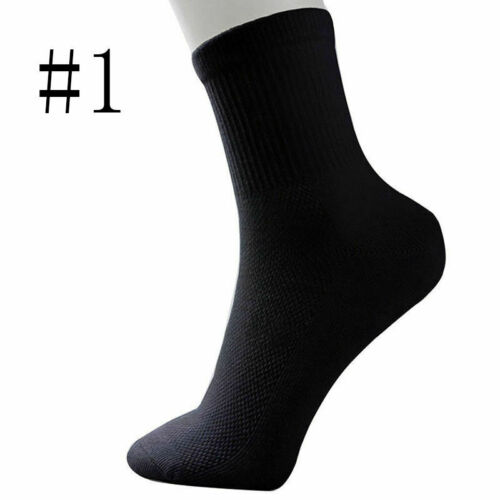 Lot 5 Pairs Men Women Cotton Rich Sport Sock Work Ankle Official Sock,Gifts O4W4