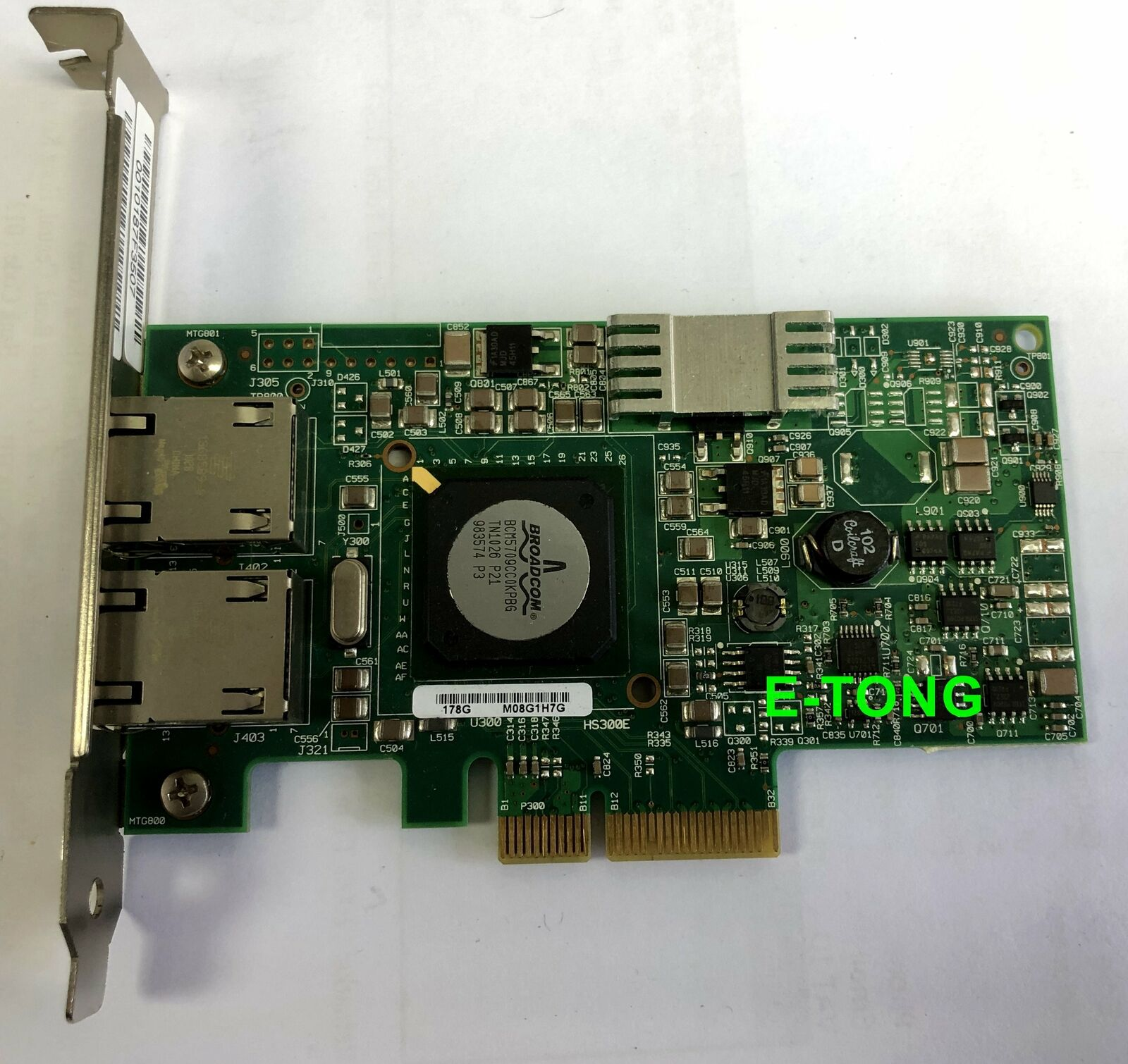 Dell G218C Broadcom Dual Port 10/100/1000 PCIe thernet Adapter Card 5709A