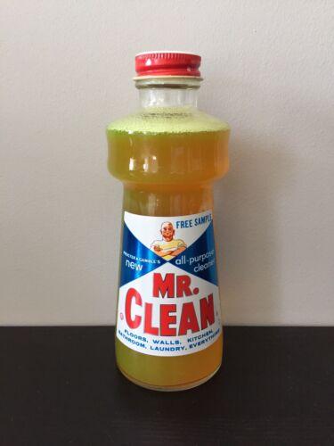 Vintage 1950/'s Mr Clean Procter /& Gamble NOS Full Cleaner Advertising Bottle