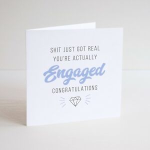 Funny greeting card cheeky humour engagement congratulations image is loading funny greeting card cheeky humour engagement congratulations ring m4hsunfo