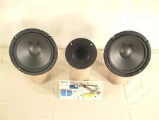 "Book Shelfl Kit Dual 6.5"" Woofers and a Horn Tweeter ESS Cerwin Vega 8 Ohm"