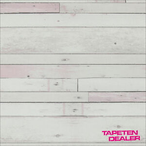 EUR-2-49-qm-Tapete-BN-More-Than-Elements-49775-Holzoptik-Shabby-Chic-Rosa
