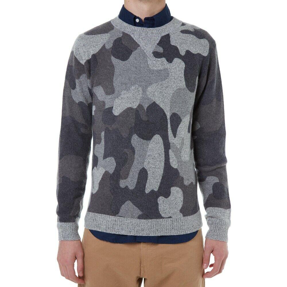 JOURNAL STANDARD  Camo print sweater, Wool blend, Size S